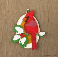 Northern Cardinal Ornament by WonderDookie