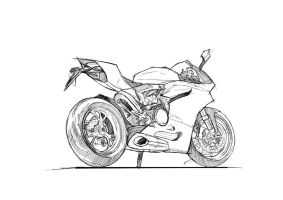 FA Ducati Panigale Lineart by primayoga
