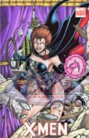X-Men Black Queen - Sketch Cover by tonyperna