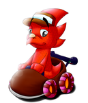 Diddy Kong Racing: Trixie Triceratops by Waver92