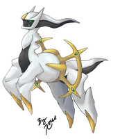 Arceus: Platinum Sprite Based by Xous54