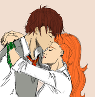 Forehead Kiss by SkyDominic