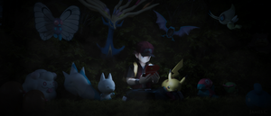 A lonely trainer surrounded by love by James--C