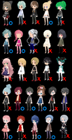 26 FREE adoptables {CLOSED} by manythings101
