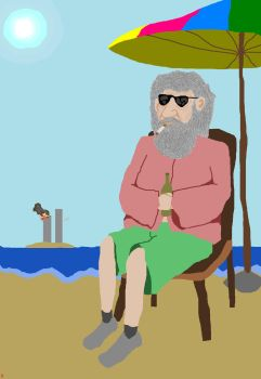 God on vacation by Nick2584