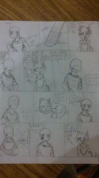 My first comic pg 1 by PhoenixMage22