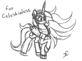 Celestialess scetch by Twistare