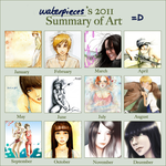 2011 Art Summary thingy by waterpieces