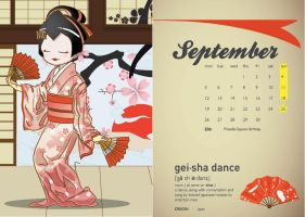 Calendar 2011 (Dances) - September by hyoori