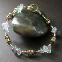 Flourite Gemstone Bracelet by Gilliauna