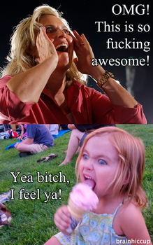 Ann Romney and Ice Cream Girl by brainhiccup