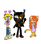 CE: Three felines Clothes Swap by DarkCatTheKhajjit