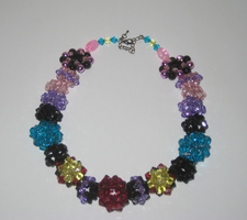Beaded Beads - Crystal Necklace by Hope555