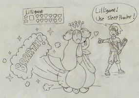 Lilligant Contest Farts by Drawful-S
