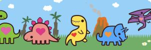 Dino Parade by pookat