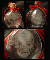 'Poison' Pirate Flask Bottle by TheCopperDragon2004