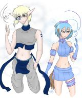 :Cray + Blue Mew: by BladeKat