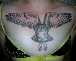 Leigh's Owl Tattoo by scumbugg