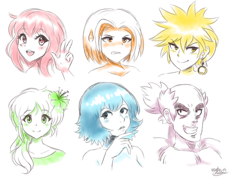 Rainbow Anime Sketch Practice by Master-Rainbow