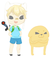 Cutie Time with Finn and Jake by pocketplanets