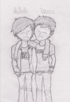 Tobuscus and PewDiePie sketch by Purebell