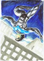 Nightwing by Jean Sinclair by JeanSinclairArts