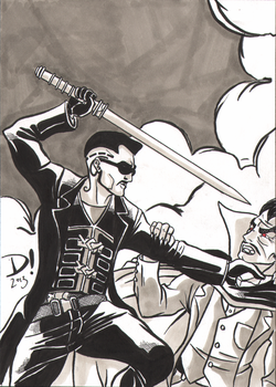 2013 Christmas Sketch Cards: Blade by spidertour02