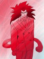 Raditz in clash of red - Lineart inside. by Paradise-of-Darkness