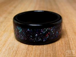 Galaxy Bentwood Ring by SycoClown