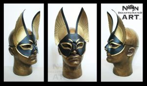 Egyptian inspired Handmade Leather Mask by nondecaf