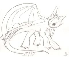 Toothless Sketch by SonARTic