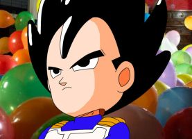 Funny Vegeta with big head by eggmanrules