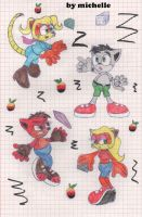 crash bandicoot: sonic classic forms 2 by michelle-bandi-wolf