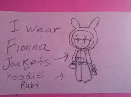 i wear fionna jacket or hoodie by bigbob101