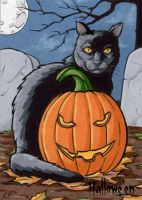 Hallowe'en Sketch Card 5 by ElainePerna