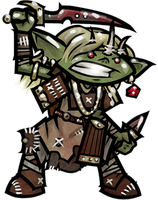 Gora, Goblin Rogue by WhoDrewThis
