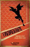 Firebreather vintage poster by waitedesigns