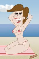 Mrs Turner at the beach by juvmc