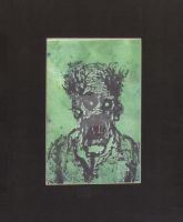 Green Man Monotype by ANDYLYONS