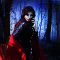 Vampire Girl in the Woods by BlackDreams11