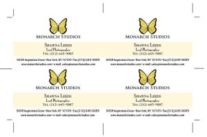 Monarch Studios Business Card by wulfiesacolyte