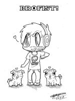 Chibi Pewdiepie, Maya and Edgar! :3 by ShannonxNaruto