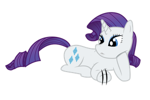 Rarity Lying Down and Waiting (Vector) by Skylark-Torch