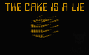 The Cake is a Lie wallpaper by DEVILUSHNINJA