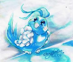 between the heavens - Swablu by Kazelyn