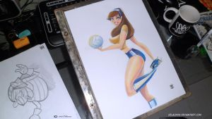Pin up Voley ball by celaoxxx