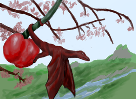 Cherry bloom dragon - WIP by Twimper