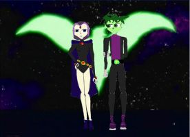 Raven And Beastboy by Anastarza