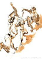 Athal Fighting by Herio13