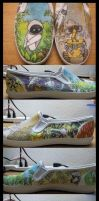 Wall-e Shoes by NamelessDice